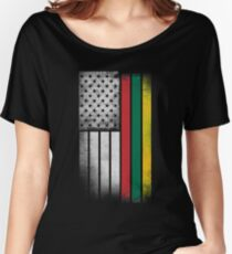 Lithuanian American Flag Women's Relaxed Fit T-Shirt