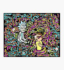 Trippy Snake Stuff - Rick and Morty Photographic Print