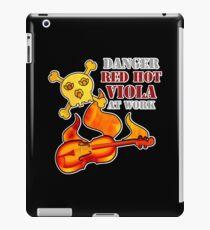Red Hot Viola iPad Case/Skin