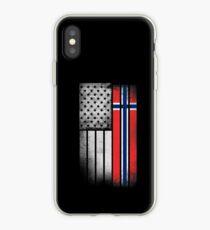 Norwegian American Flag iPhone Case