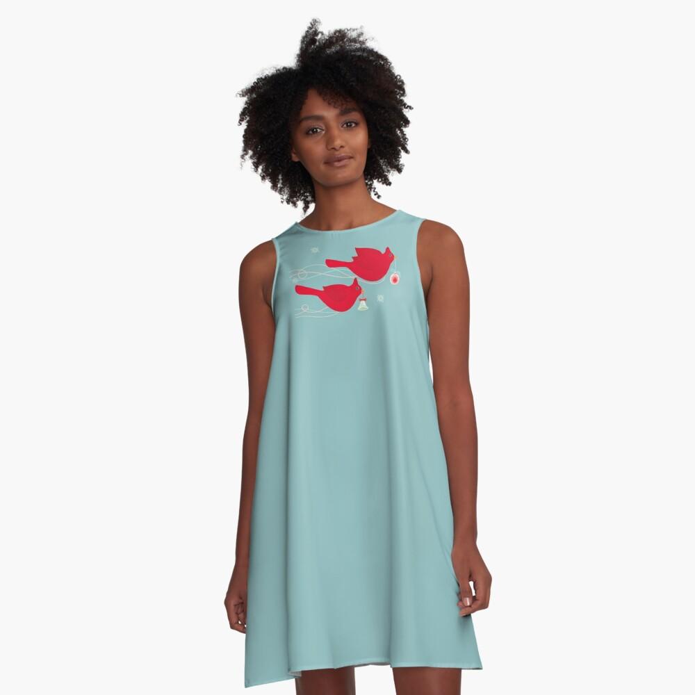 Two Cardinals A-Line Dress