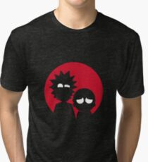 Minimalist Characters - Rick and Morty Tri-blend T-Shirt