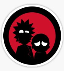 Minimalist Characters - Rick and Morty Sticker