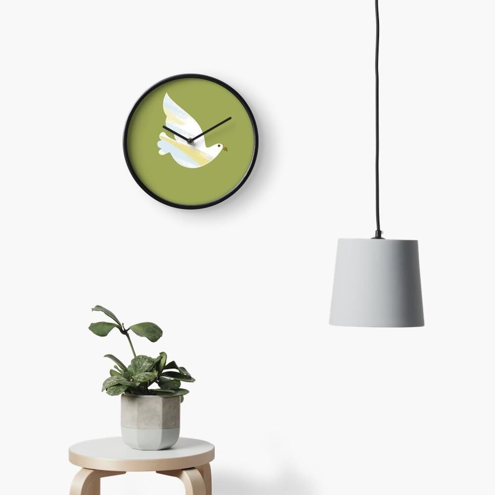 Christmas Dove Clock