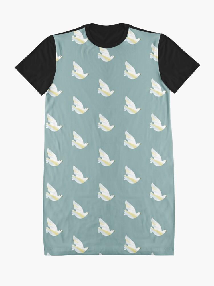 Alternate view of Christmas Dove Graphic T-Shirt Dress