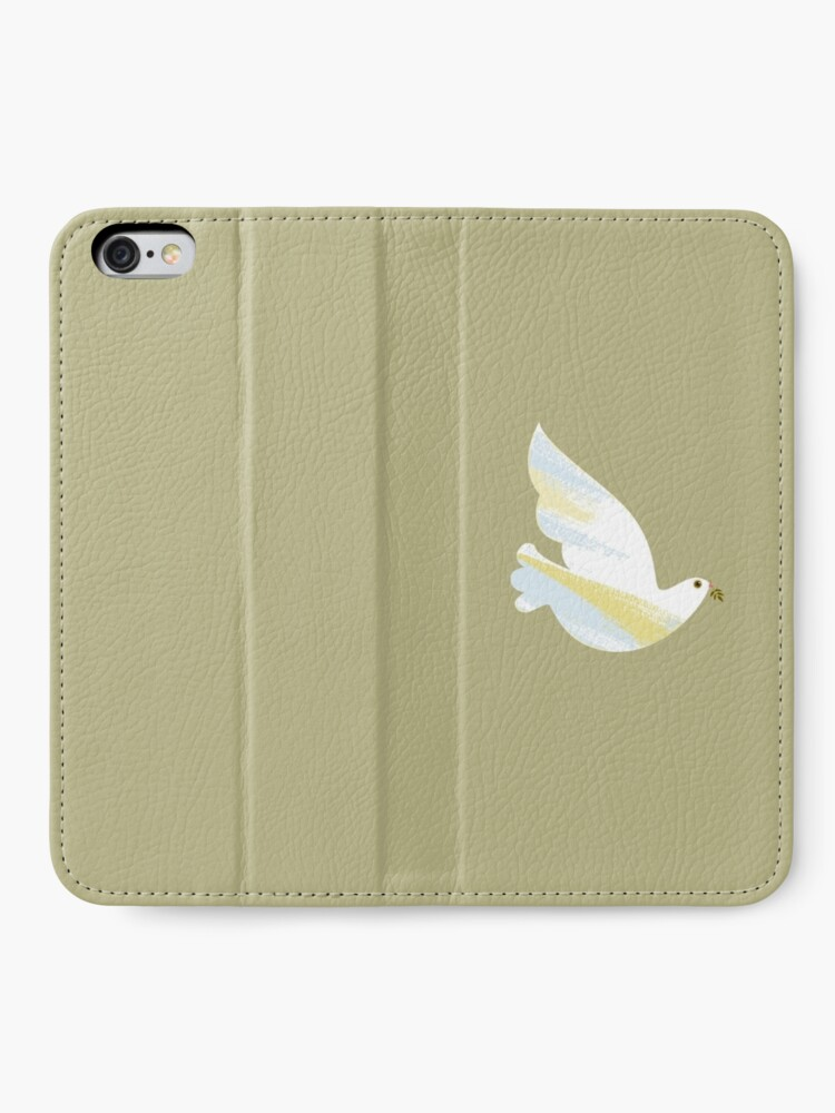 Alternate view of Christmas Dove iPhone Wallet
