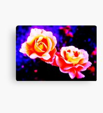 Psychedelic Roses Canvas Print
