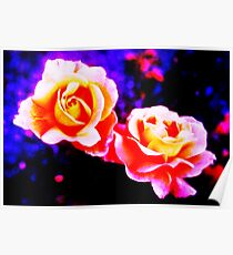 Psychedelic Roses Poster