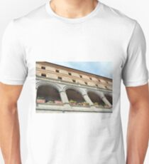 Building with columns and portico in Assisi, Italy T-Shirt