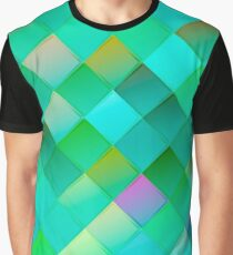Seamless green pattern with squares.Trendy hipster print. Modern graphic design. Graphic T-Shirt
