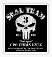 CPO chris kyle - THE LEGEND SEAL TEAM 1974 - 2013 Sticker