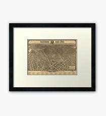 Vintage Pictorial Map of Washington D.C. (1921) Framed Print