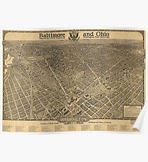 Vintage Pictorial Map of Washington D.C. (1921) Poster