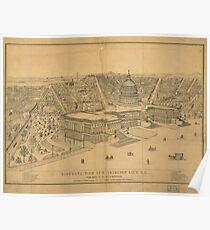 Vintage Pictorial Map of Washington D.C. (1872) Poster