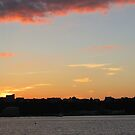 Sunset Over Jersey 1 by joan warburton