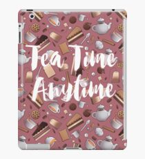 Tea Time Anytime - pink iPad Case/Skin
