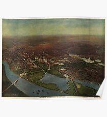 Vintage Pictorial Map of Washington D.C. (1916) Poster