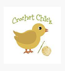 Crochet chick Photographic Print