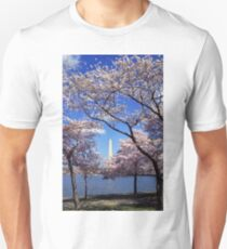 Washington Monument Through Cherry Blossoms Unisex T-Shirt