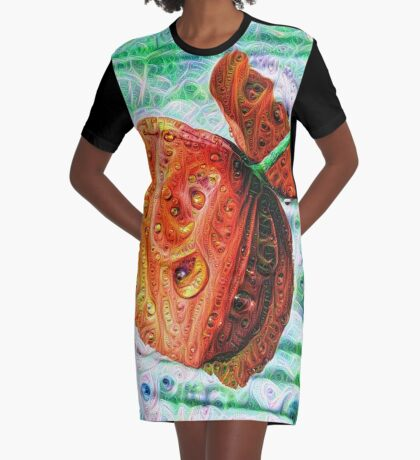 #DeepDreamed Flower 5x5K v1449147619 Graphic T-Shirt Dress