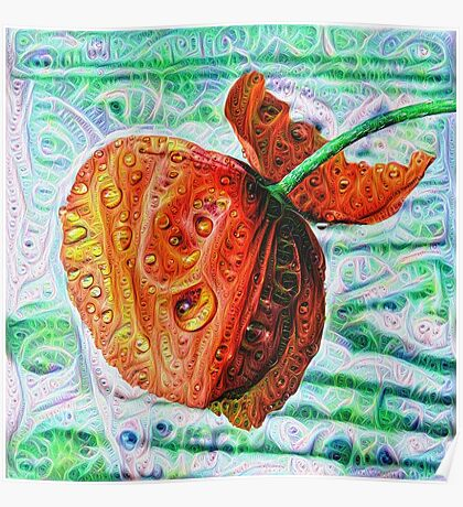#DeepDreamed Flower 5x5K v1449147619 Poster