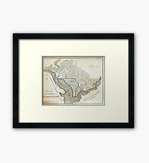 Vintage Map of Washington D.C. (1794) Framed Print