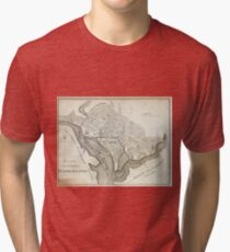 Vintage Map of Washington D.C. (1794) Tri-blend T-Shirt
