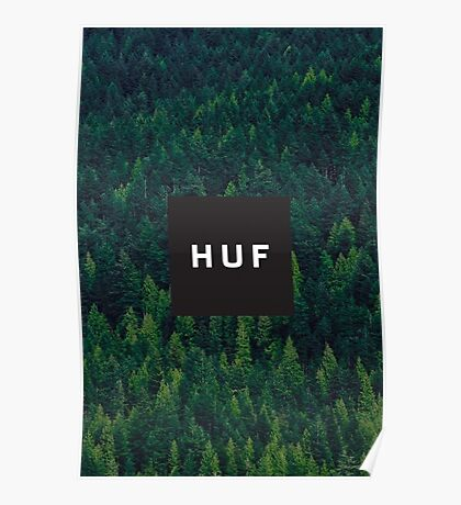 HUF WorldWide Forest Poster