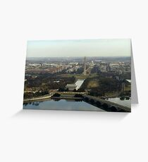Washington DC Aerial Photograph  Greeting Card