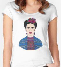 Frida Kahlo (color option) Women's Fitted Scoop T-Shirt
