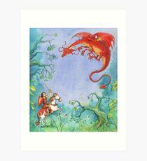 Knights and Dragons Art Print