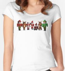 Merry Xmas from MINE Women's Fitted Scoop T-Shirt