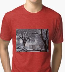 Winter Wonderland White House Tri-blend T-Shirt