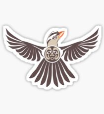White Crowned Sparrow Sticker