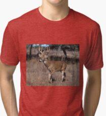 White Tail Deer Tri-blend T-Shirt