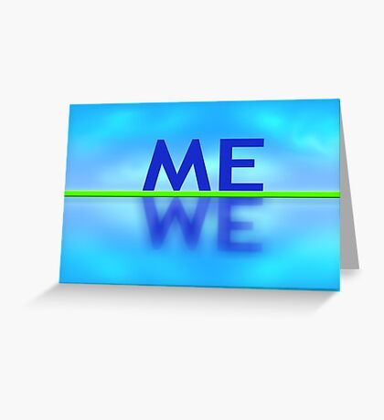 Me reflection Greeting Card