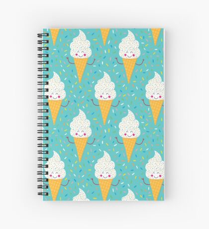 Ice Cream Party Spiral Notebook