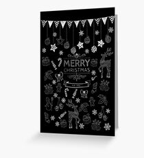A chalky merry Christmas  Greeting Card