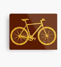 Fixie Bike Bling Metal Print