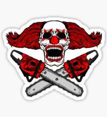 Clown and Chainsaws Sticker