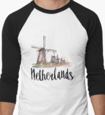 Netherlands Men's Baseball ¾ T-Shirt