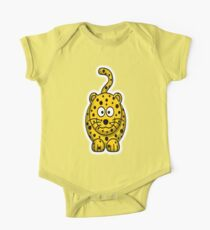 Leopard, Cartoon, Cute, Spotty, Big Cat, Yellow, CAT Kids Clothes