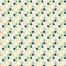 Multicolor Triangle Geometric Pattern by Gwen DeGroff