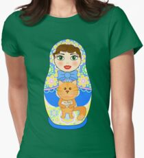Russian doll matryoshka. Russian souvenir, tradition. Womens Fitted T-Shirt