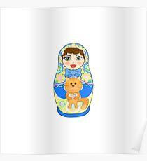 Russian doll matryoshka. Russian souvenir, tradition. Poster