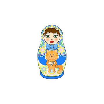 Russian doll matryoshka. Russian souvenir, tradition. by InnaQueen