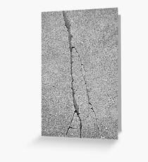 BROKEN SIDEWALK (Damaged) Greeting Card