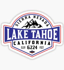 SEE TAHOE KALIFORNIEN SIERRA NEVADA SKI-BERGE WANDERN WANDERN KLETTERN SKI Sticker