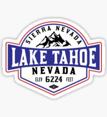LAKE TAHOE NEVADA SIERRA NEVADA SKIING MOUNTAINS BOATING HIKING CLIMBING SKI Sticker