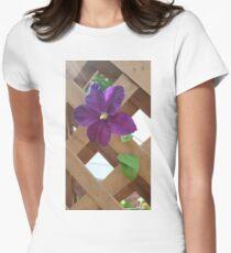Purple Through Lattice T-Shirt